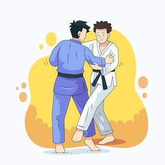 Combattimenti di atleti di jiu-jitsu