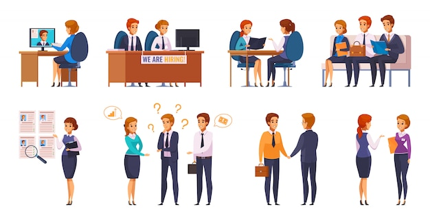 Job applicants interviewers collection