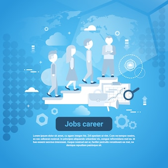 Job career template web banner with copy space