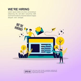 Job hiring concept