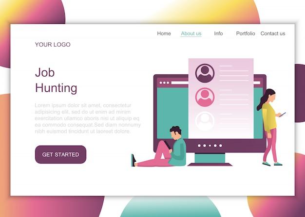 Job hunting landing page