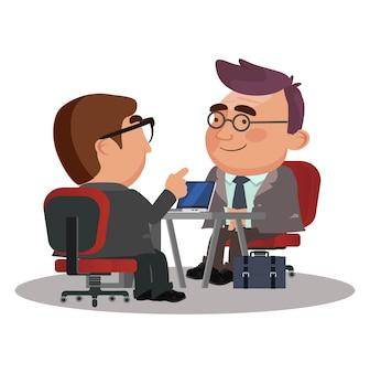 就職の面接人事担当者と候補者