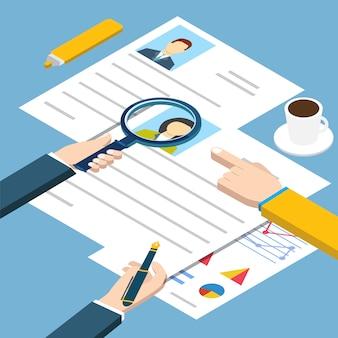 Job interview isometric