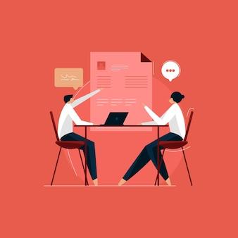 신입 사원 인터뷰 및 채용 개념 채용 면접 프로세스