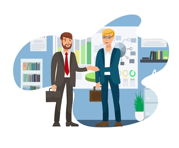 Job interview successful conclusion illustration