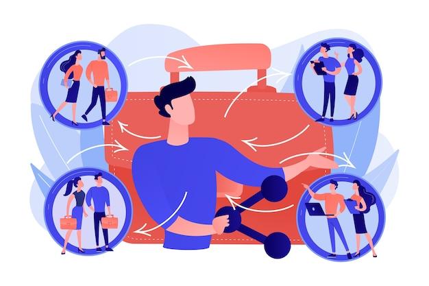 Colloquio di lavoro, candidati vacanti. social networking, flusso di lavoro