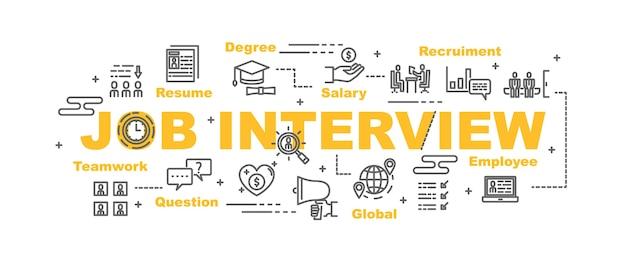 Job interview vector banner