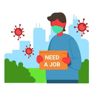 Perdita di posti di lavoro a causa della crisi del coronavirus