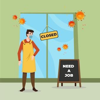 コロナウイルスの危機による失業