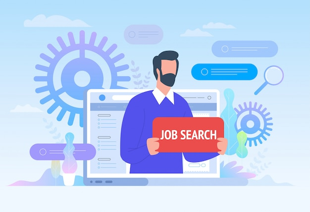 Job search. employee looking for job.