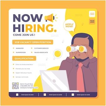 Job seeker hiring poster template design