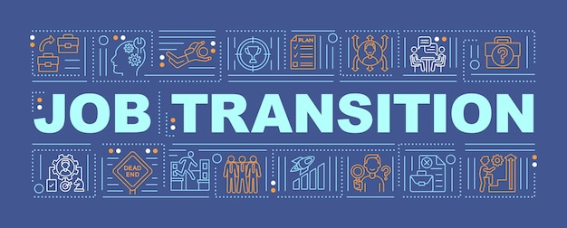 Job transition word concepts banner