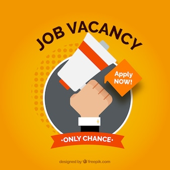 Job vacancy background in flat style