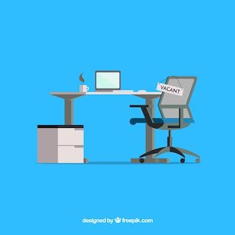 플랫 스타일의 직업 공석 배경