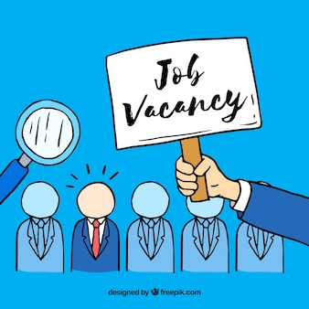 Job vacancy background with employees