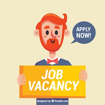 Job vacancy background with worker