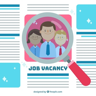 Job vacancy background with workers