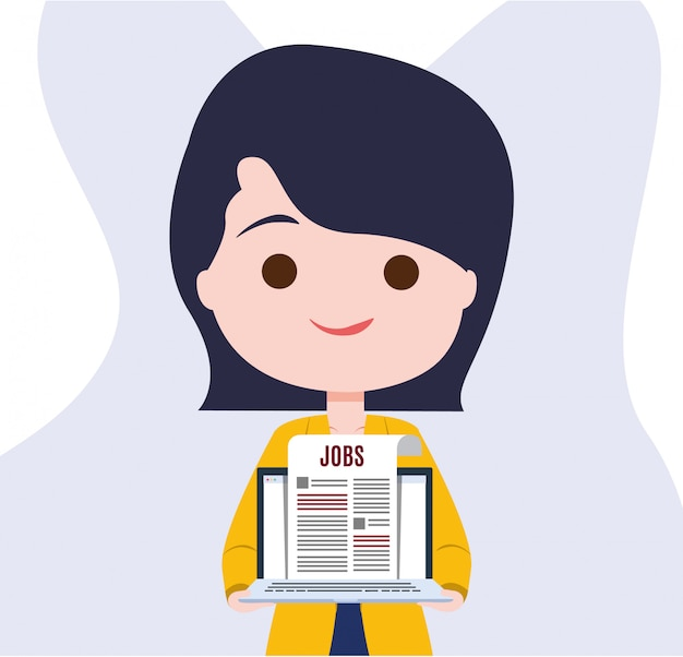 Jobs in digital newspaper