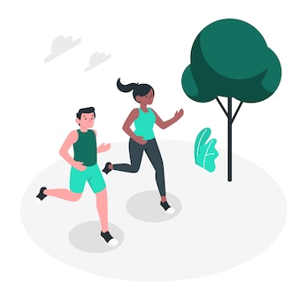 Jogging concept illustration