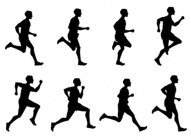 Бегущий человек, бегущий спортсмен