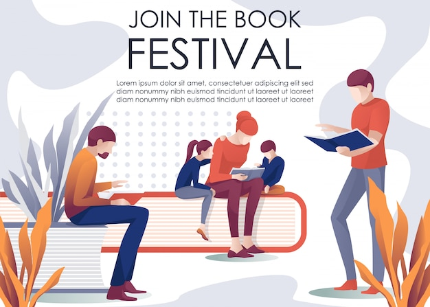 Join book festival invitation libebanner