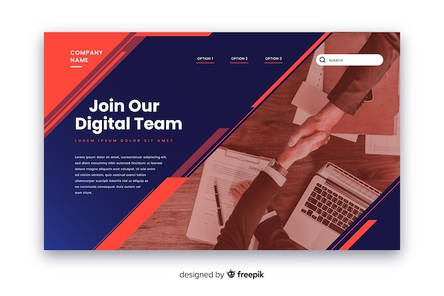 Join our team business landing page