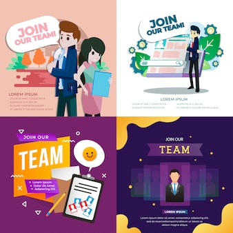 Join our team illustration