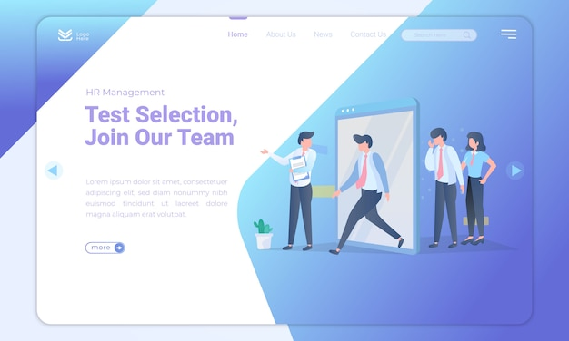 Join our team for landing page template