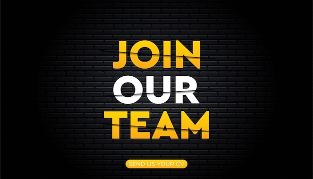 Join our team template.