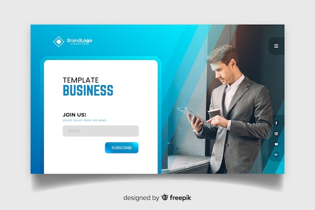 Join us business landing page