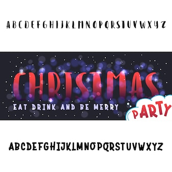 Join us for a christmas party horizontal flyer