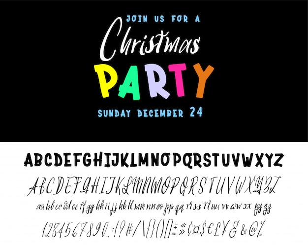 Join us for a christmas party horizontal flyer.