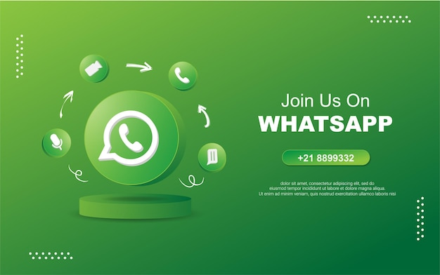 3dラウンドサークル通知アイコンでソーシャルメディアのwhatsapに参加してください