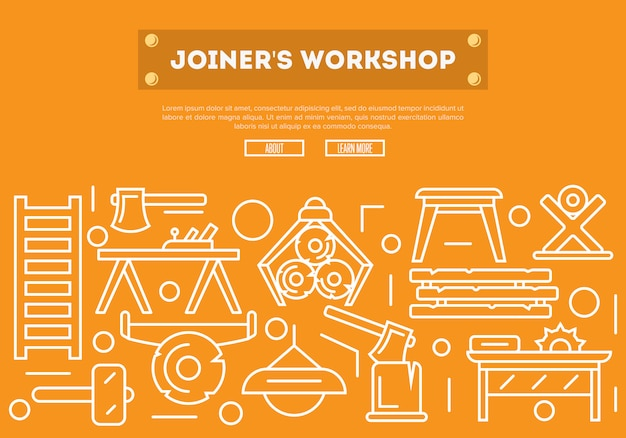 Joiners workshop  in linear style
