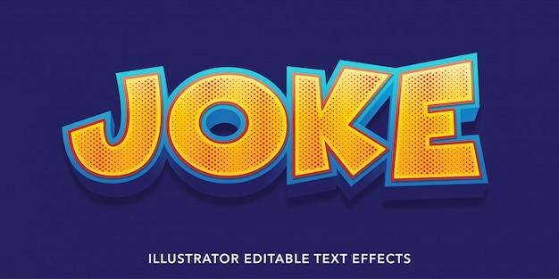 Joke style editable text effects templates