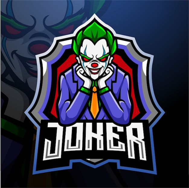Joker mascot esport logo design