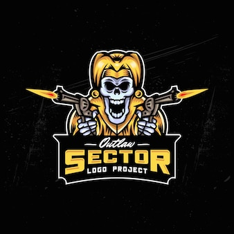 Дизайн логотипа joker skull esport
