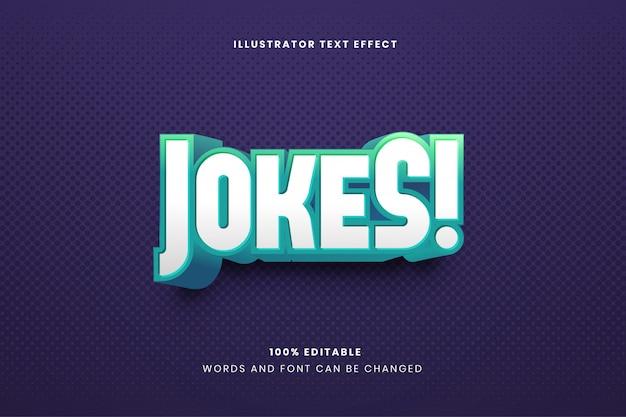 Jokes editable text effect