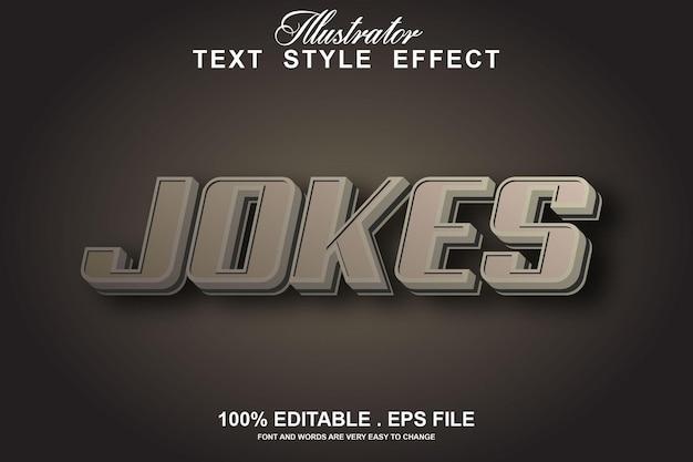 Jokes text effect editable