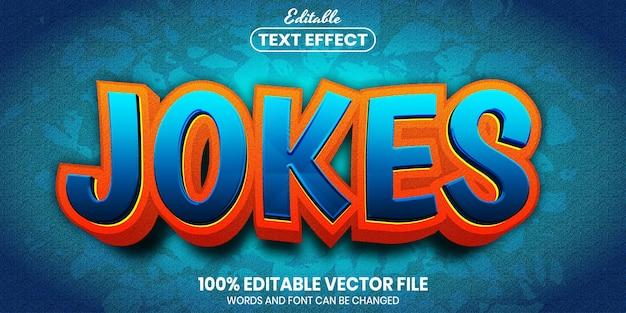 Jokes text, font style editable text effect