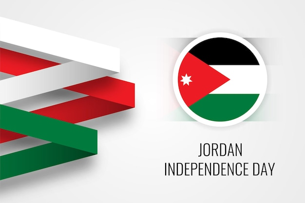 요르단 독립 기념일 축하 일러스트 템플릿 디자인