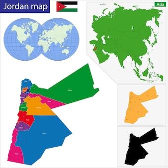 요르단지도