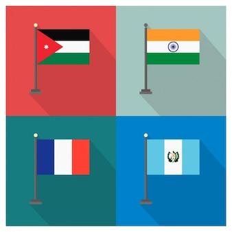Jordaniaのインドフランスグアテマラ