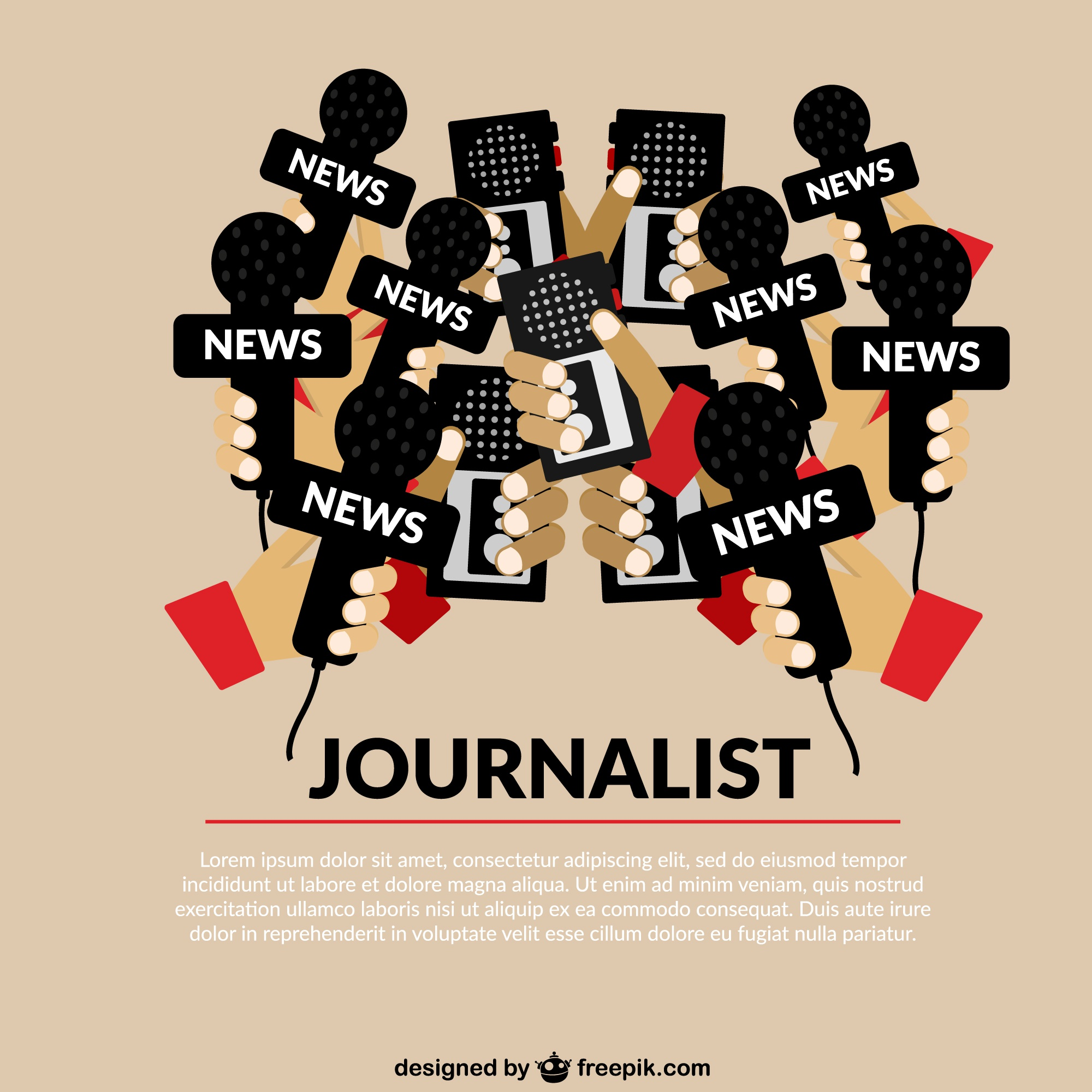 Journalism concept template