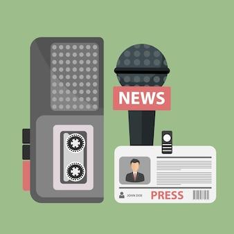 저널리즘, 텔레비전, 라디오, 기자 회견 개념