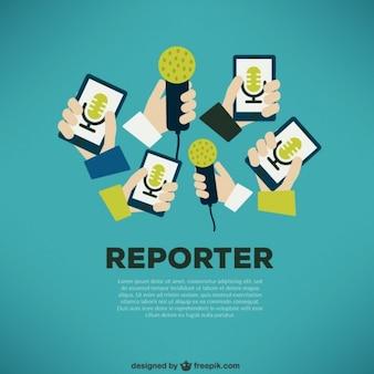 Journalist press concept