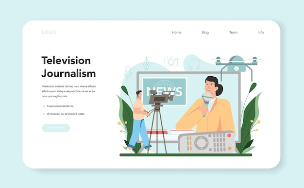 Journalist web banner or landing page