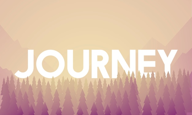 Journey adventure destination landscape vector