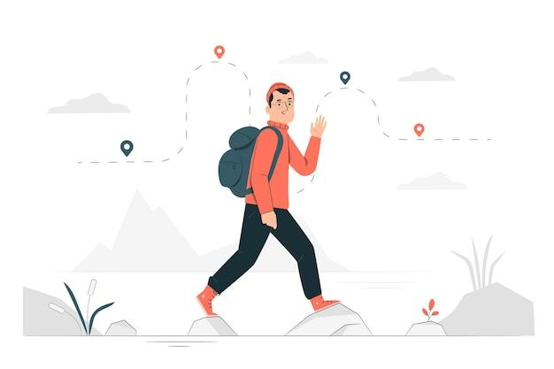 Иллюстрация концепции путешествия