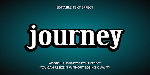 Journey editable text font effect